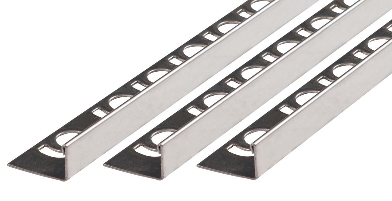 Winkelprofil V2A Edelstahl glänzend Höhe 6 0 mm Länge