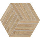Agrob Buchtal Oak Dekor Hexagon 8471-B698HK Eiche natur matt 30x35 cm