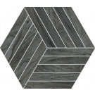 Agrob Buchtal Oak Dekor Hexagon 8472-B698HK Eiche anthrazit matt 30x35 cm