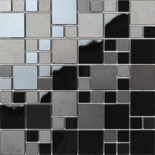 Dune Material-Mix-Mosaik Matrix 186382 schwarz, 30x30 cm