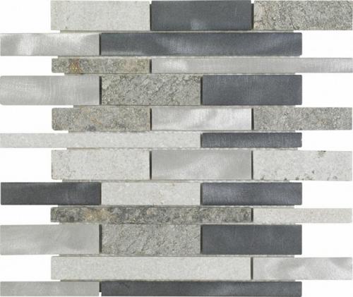 Dune Material-Mix-Mosaik Thor 187125 grau 30x30 cm