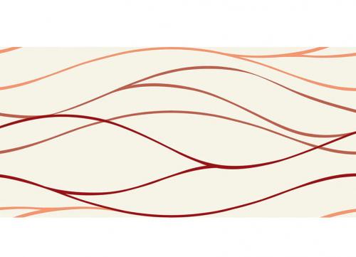 Villeroy & Boch Play It! Dekor rot glänzend 25x50 cm