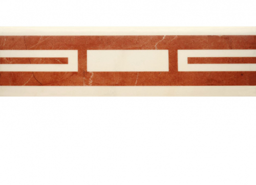 Villeroy & Boch New Tradition Bordüre crema-rosso 10x30 cm