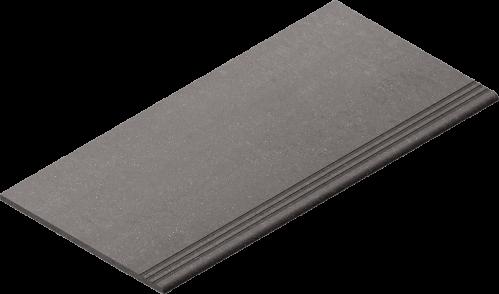 Villeroy & Boch Lobby Treppenauftritt dark grey matt, reliefiert 30x60 cm
