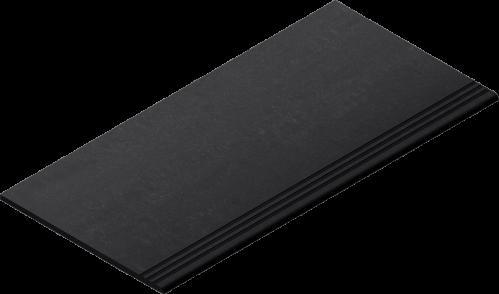 Villeroy & Boch Lobby Treppenauftritt anthracite matt, reliefiert 30x60 cm