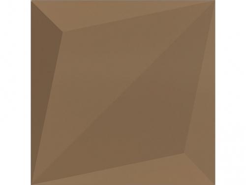 Dune ceramics Origami Bronzo Wandfliese braun seidenmatt 25x25 cm
