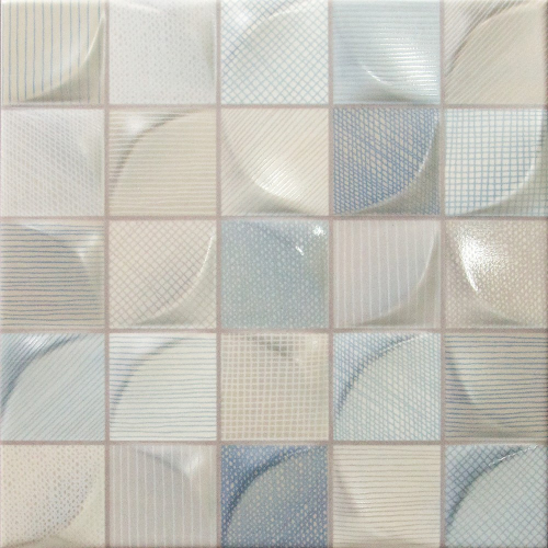 Dune Ceramics 3D Tissu Light Wandfliese blau-mix matt 25x25 cm