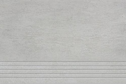 Agrob Buchtal Geo 2.0 Treppenfliese rilliert 433961 steingrau matt 30x60 cm