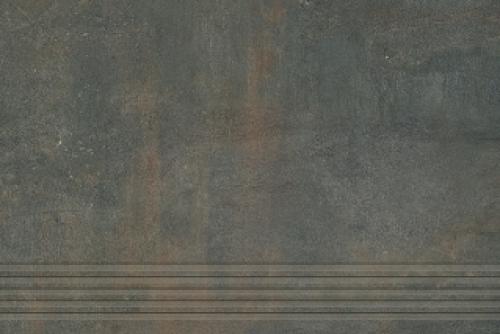 Agrob Buchtal Remix Treppenfliesen rilliert anthrazit matt 30x90 cm