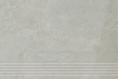 Agrob Buchtal Remix Treppenfliesen rilliert grau matt 30x90 cm