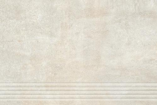 Agrob Buchtal Remix Treppenfliesen rilliert beige matt 30x90 cm
