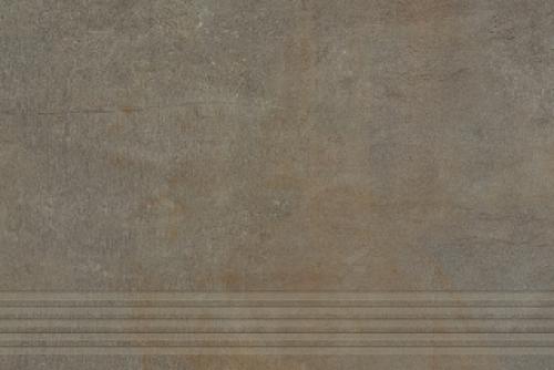 Agrob Buchtal Remix Treppenfliesen rilliert braun matt 30x90 cm