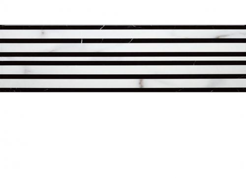 Villeroy & Boch New Tradition Bordüre bianco-nero 15x30 cm