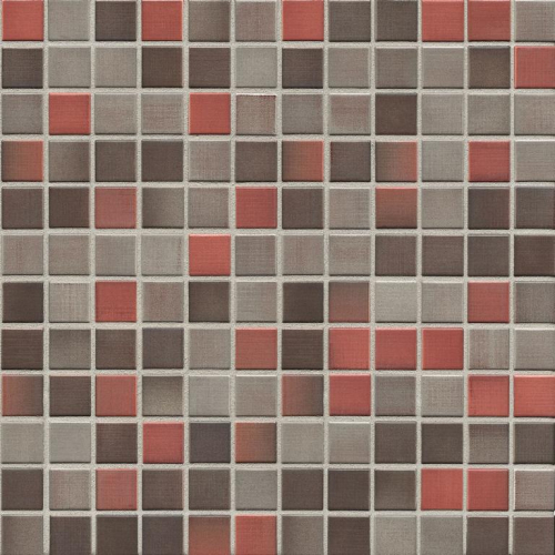 Jasba Highlands Mosaik karminrot-mix matt 32x32 cm