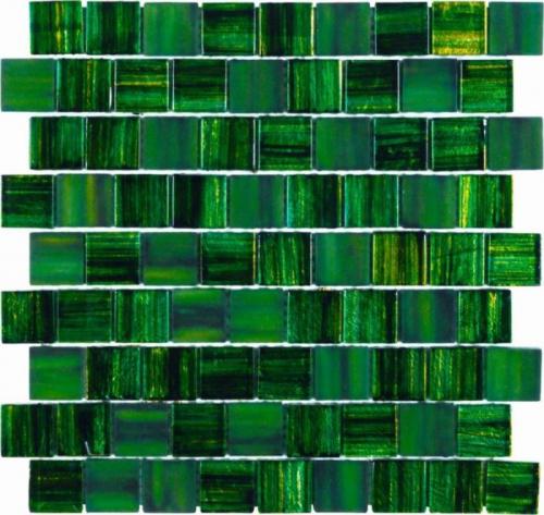 Dune Glas-Mosaik Alegria grün seidenmatt 30x30 cm