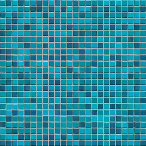 Jasba Atelier 8603H Mosaik aquarelltürkis-mix matt 31x31 cm