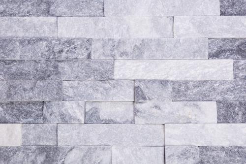 Brickstone Cloudy 15x60cm weiß-grau glitzer Quarzit Wandverblender
