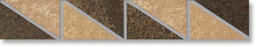 Agrob Buchtal Trevi Bordüre beige-braun eben 4,7x30 cm