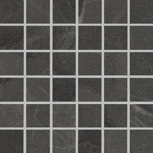 Agrob Buchtal Somero 5x5 Mosaik anthrazit strukturiert,vergütet 30x30 cm
