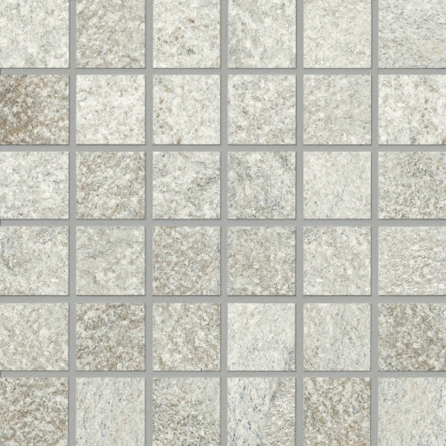 Agrob Buchtal Quarzit Mosaik weißgrau matt 5x5 cm