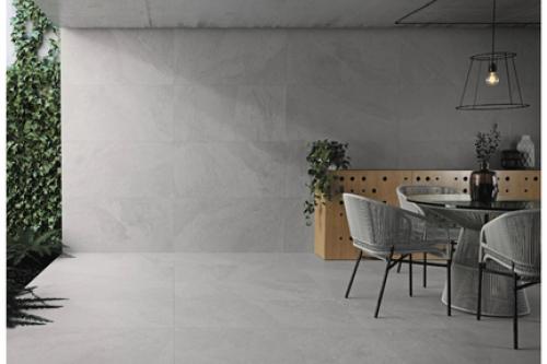 Terrassenplatten Sonderposten Annapurna Outdoor grau 80x80x2 cm Schieferoptik matt R11/C