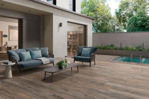Villeroy & Boch Oak Line Garden Outdoor Terrassenplatte Holzoptik walnut matt 40x80x2 cm