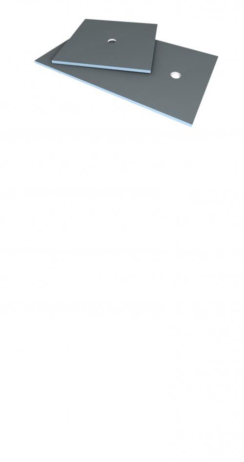 Wedi Fundo Primo Bodenelement quadratisch in verschiedenen Größen mit Ablauf Zentral-900x900x40 mm