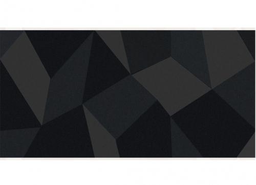 Villeroy & Boch BiancoNero Dekor Kristall schwarz glänzend 30x90 cm