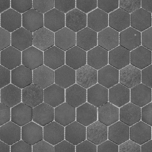 Bärwolf Basalt Natursteinmosaik ash grey matt 26x30 cm