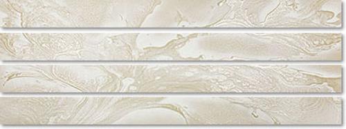 Agrob Buchtal Imago Bordüre 392808 weißbeige strukturiert, teilpoliert 7,2x90 cm