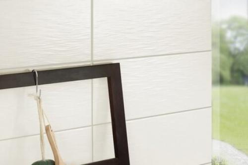 Wandfliesen Signo Brooklyn weiß blanco 30x60 cm Schieferoptik strukturiert matt