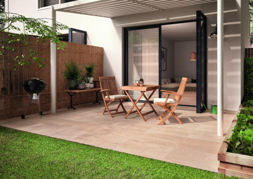 Terrassenplatten Villeroy & Boch Cadiz Outdoor 2803 BU2M sand matt 60x60x2 cm Kalksteinoptik