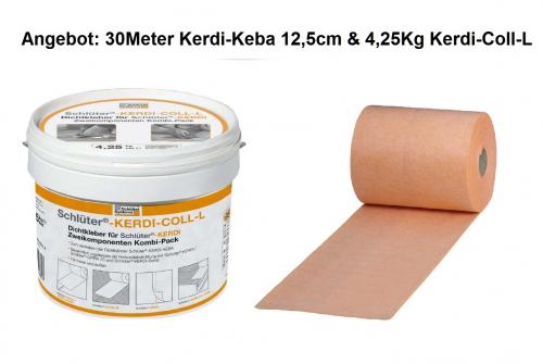 Schlüter Kerdi Keba 100/125 Dichtband 30 M + Dichtkleber 4,25 Kg