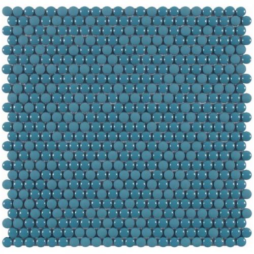 Dune vitra Dots blue Mosaik blau glänzend/matt 28x28 cm