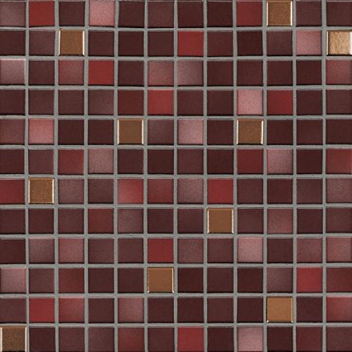 Jasba Fresh Mosaik mystic red-mix metallic glänzend 32x32 cm