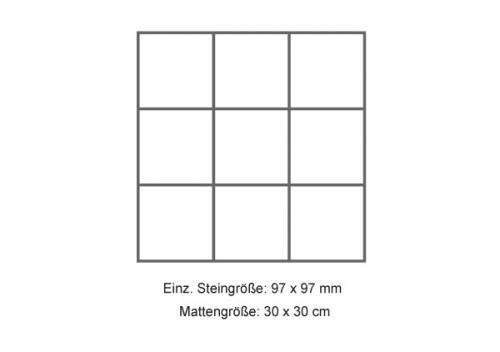 Steuler Mosaik 10x10 cm Brooklyn schwarz 30x30 cm