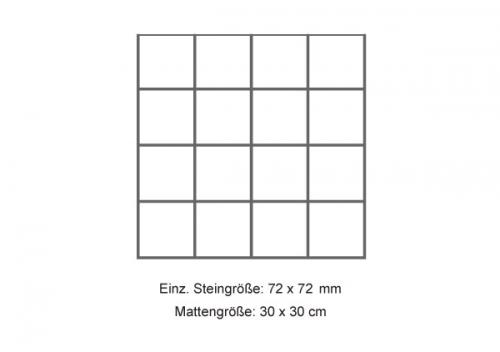 Steuler Mosaik 7,5x7,5 cm Beton grau 30x30 cm