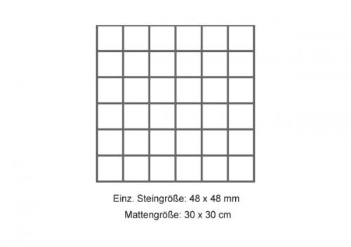Steuler Mosaik 5x5 cm Brooklyn schwarz 30x30 cm
