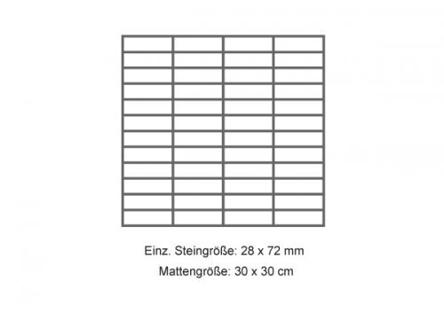 Steuler Mosaik 3x7,5 cm Brooklyn grau 30x30 cm