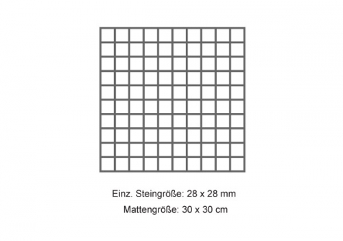 RAK Ceramics Gems/ Lounge Mosaik cold light grey matt 30x30 cm, Steingröße 2,5x2,5 cm