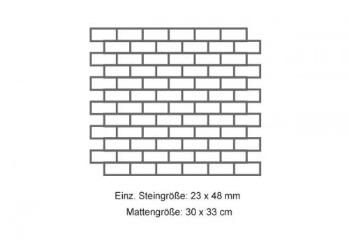 Steuler Mosaik 2.5x5 cm Brooklyn schwarz 30x33 cm