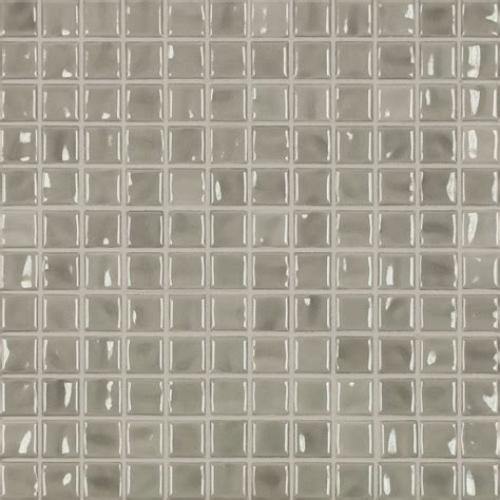 Jasba Amano Mosaik hellgrau glänzend 32x32 cm