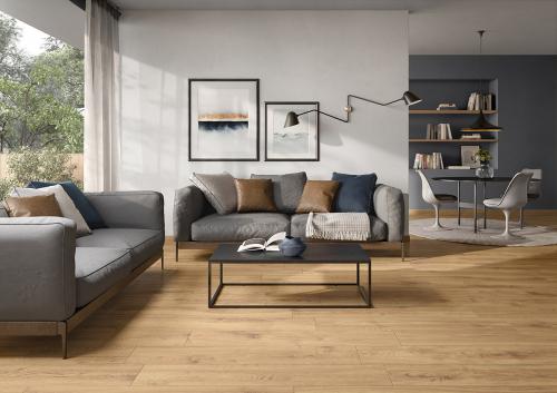 Bodenfliesen Villeroy & Boch Oak Side 2792 HE20 terra 20x120 cm Holzoptik matt R10