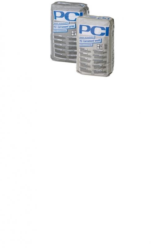 PCI Carrament Mittelbett- und Ansetzmörtel, weiß 25 Kg