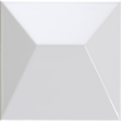 Dune ceramics Japan White Gloss Wandfliese weiß glänzend 25x25 cm