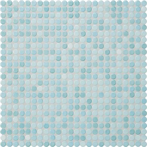Jasba Loop Mosaik aquablau hell glänzend 32x32 cm
