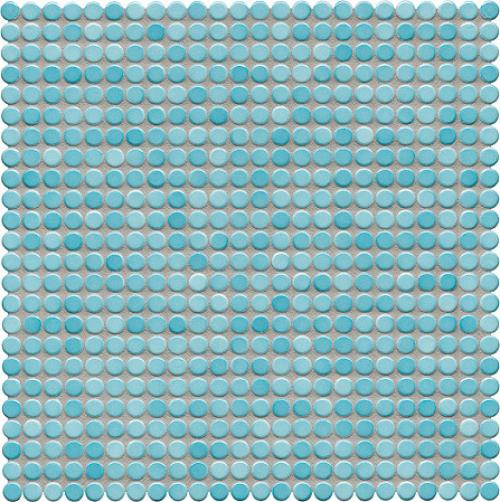 Jasba Loop Mosaik aquablau glänzend 32x32 cm
