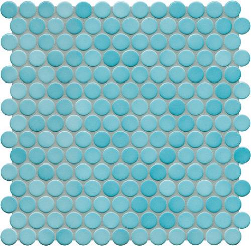 Jasba Loop Mosaik aquablau glänzend 31x32 cm