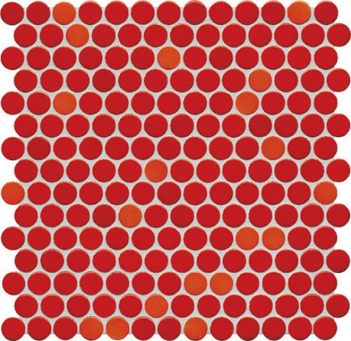 Jasba Loop Mosaik korallenrot glänzend 31x32 cm