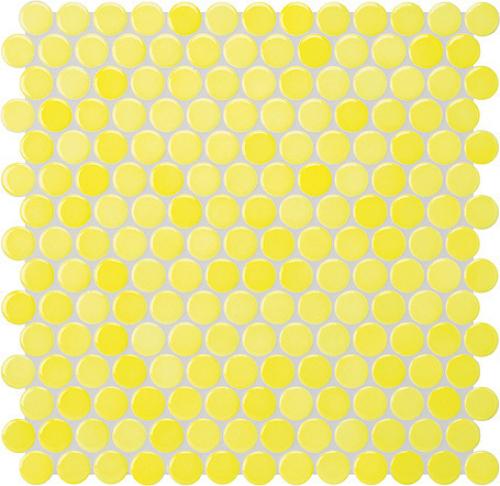 Jasba Loop Mosaik zitronengelb glänzend 31x32 cm